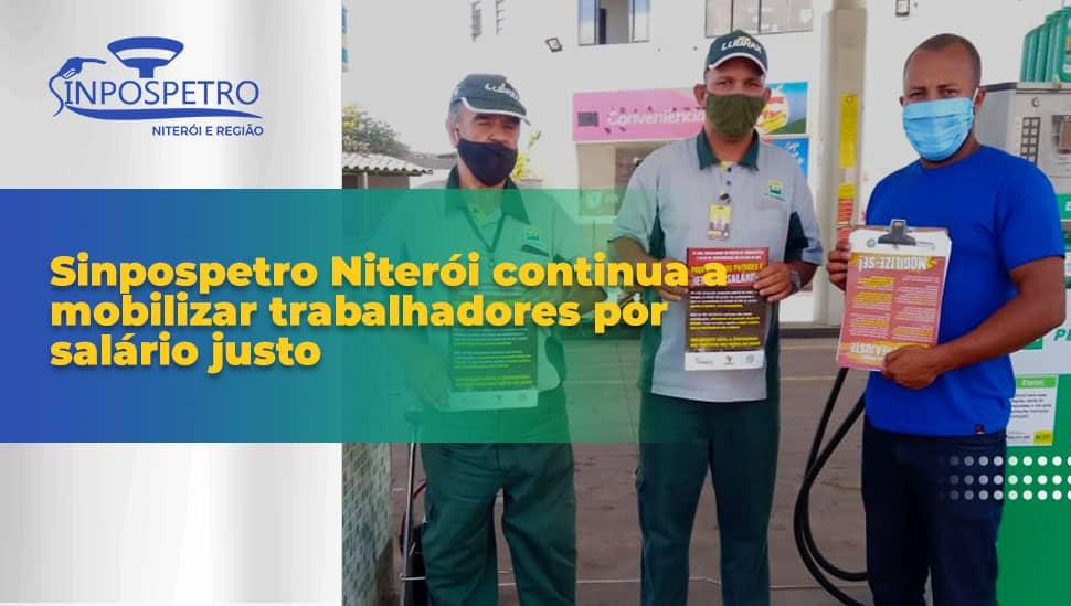 SINPOSPETRO Niterói continua a mobilizar trabalhadores por salário justo