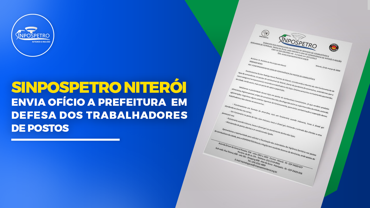 covid_19 sinpospetro niterói envia ofpicio a prefeitura Niteróiiterói